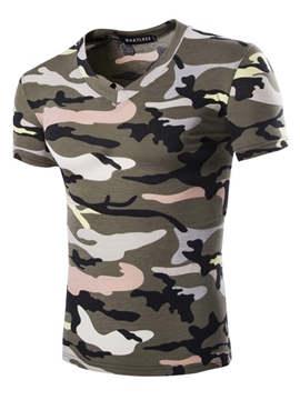 Ericdress Camouflage Casual Print Men's T-Shirt