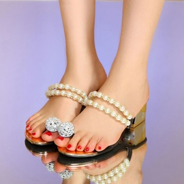 Ericdress Beads&Rhinestone Mules Shoes
