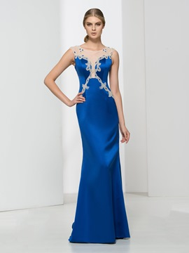 Ericdress Sheath Scoop Neck Beading Evening Dress