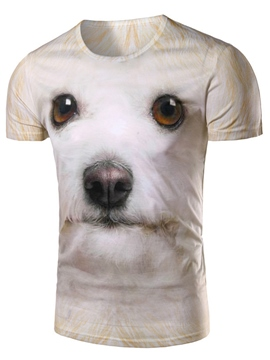 Ericdress 3D Dog Print Short Sleeve Men's T-Shirt