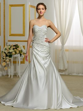 Ericdress Amazing Beading Sweetheart Mermaid Wedding Dress