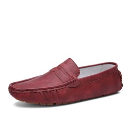 Ericdress Slip-On Flat Heel Low-Cut Plain Men's Loafers