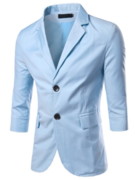 Ericdress Plain Three-Quarter Sleeve Slim Men's Blazer