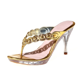Ericdress Rhinestone Thong Mules Shoes