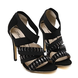 Ericdress Open Toe Elastic Band Stiletto Sandals