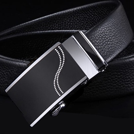 Ericdress Beaded S Letter Automatic Belt For Men