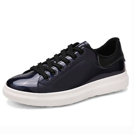 Ericdress Patent Leather Lace up Men's Athletic Shoes