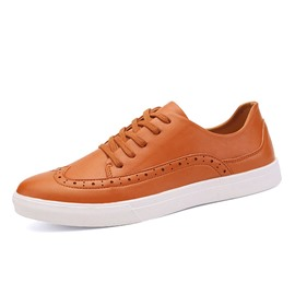 Ericdress Solid Color PU Men's Casual Shoes