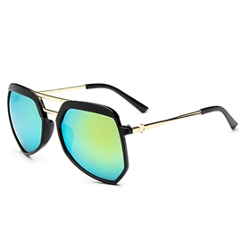 Ericdress Polygonal Irregular Iridescent Sunglasses