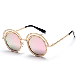 Ericdress Beaded Frame Reflective Sunglasses