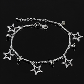 Ericdress All Match Five Pointed Star Silver Anklet