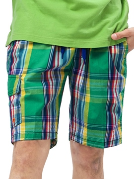 Ericdress Plaid Loose Men's Shorts