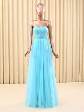 Ericdress Sweetheart A-Line Ruched Floor-Length Prom Dress