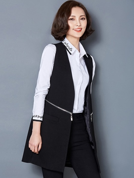 Ericdress Simple Zipper Decoration Blazer