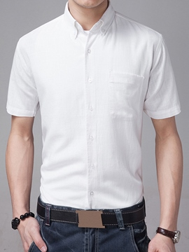 Ericdress Soft Fabric Plain Casual Men's Shirt