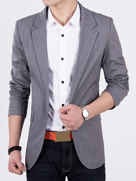 Ericdress Gray Thin Slim Men's Blazer
