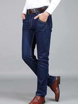 Ericdress Straight Loose Casual Pocket Men's Jeans
