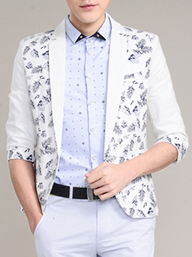 Ericdress Three-Quarter Sleeve Print Men's Blazer