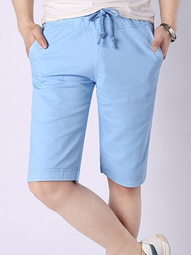 Ericdress Solid Color Loose Straight Men's Shorts