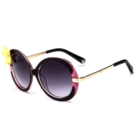Ericdress Vogue Flower Decorated Resin Sunglasses