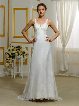 Ericdress Amazing A Line Backless Lace Wedding Dress