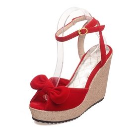 Ericdress Bowtie Wedge Sandals