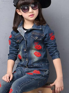 Ericdress Casual Denim Girls Outfit