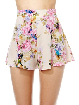 Ericdress Slim Printed Casual Shorts