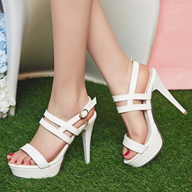 Ericdress Open Toe Platform Stiletto Sandals