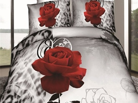 Ericdress Melody Of Love Rose Print 3D Bedding Sets