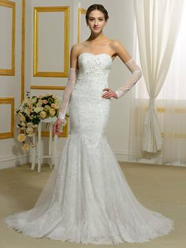 Ericdress Charming Beading Sweetheart Lace Mermaid Wedding Dress