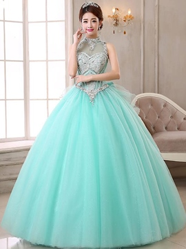 Ericdress High Neck Ball Kleid Sicke Bogen Crystal Quinceanera Kleid