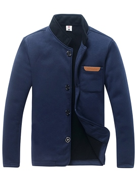 Ericdress Casual Patched Stand Collar Men's Jacket