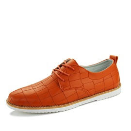Ericdress Solid Color Embossed PU Men's Casual Shoes