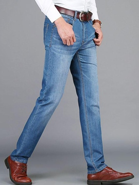 Ericdress Straight Denim Casual Men's Jeans