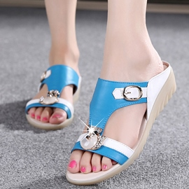 Ericdress Delicate Patchwork Mules Shoes