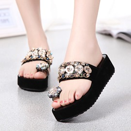 Ericdress Toe Ring Beading Mules?Shoes