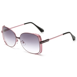 Hollowed-Out Metal Sunglasses