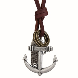 Ericdress Anchor Pendant Men's Necklace