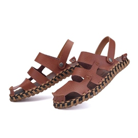 Ericdress Round Toe Hollow Buckle Men's Sandals