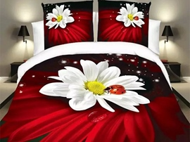 Ericdress Childhood Fun Ladybug On Flower Print Bedding Sets