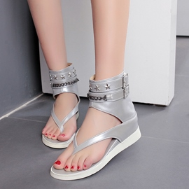 Ericdress Stars PU Thong Flat Sandals