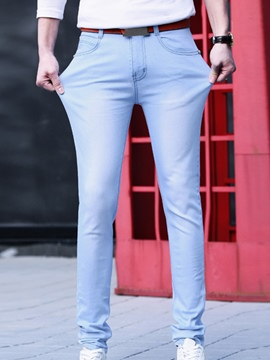 Ericdress Denim Straight Slim Men's Pants