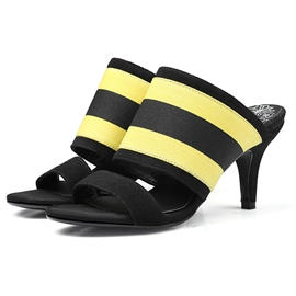 Ericdress Striped Open-Toe Mules Shoes