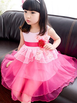 Ericdress Layered Sleeveless Girls Dress