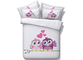 Ericdress Loving Birds Standing On Branch Print Bedding Sets