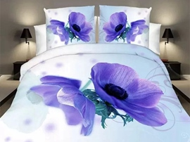 Ericdress Noble Blue Moon Flower Print Bedding Sets