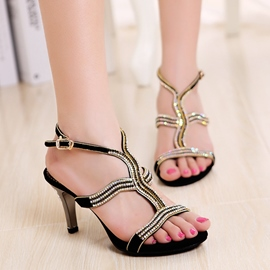 Ericdress Elegant Rhinestone Stiletto Sandals