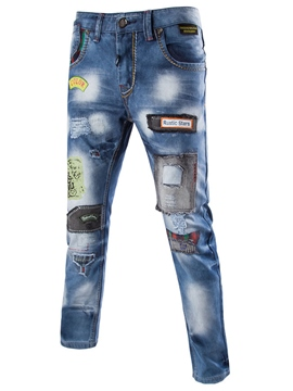 Ericdress Casual Street Style Patchwork Denim Men's Jeans