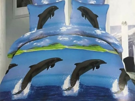 Ericdress Dolphins Playing At Sea Print Bedding Sets